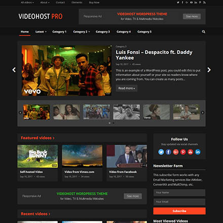 Movies Templates for Site | Download Film / Video Templates