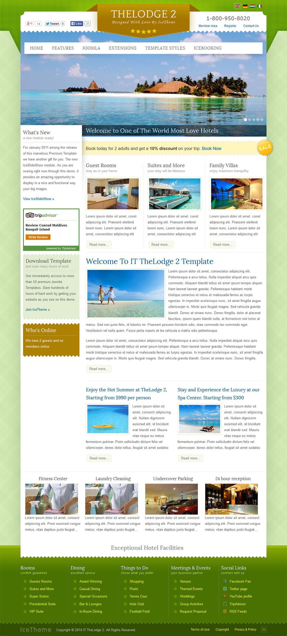 it thelodge 2 joomla online booking template for hotel.html