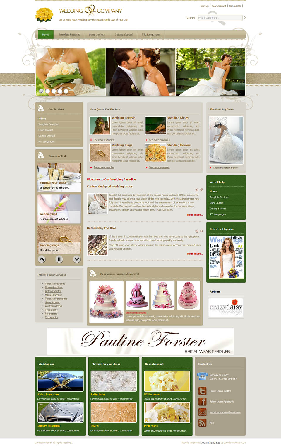 Joomla Monster Wedding01 V200 Wedding Template For Joomla