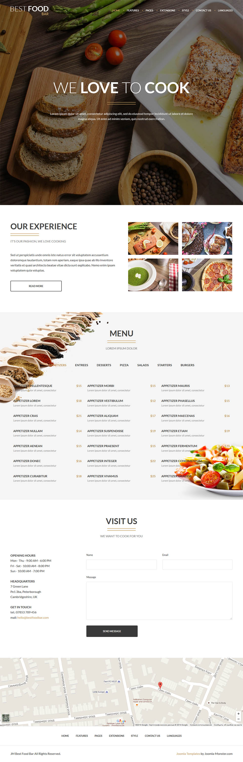 Joomla Monster Best Food Bar V104 The Restaurant Template For Joomla