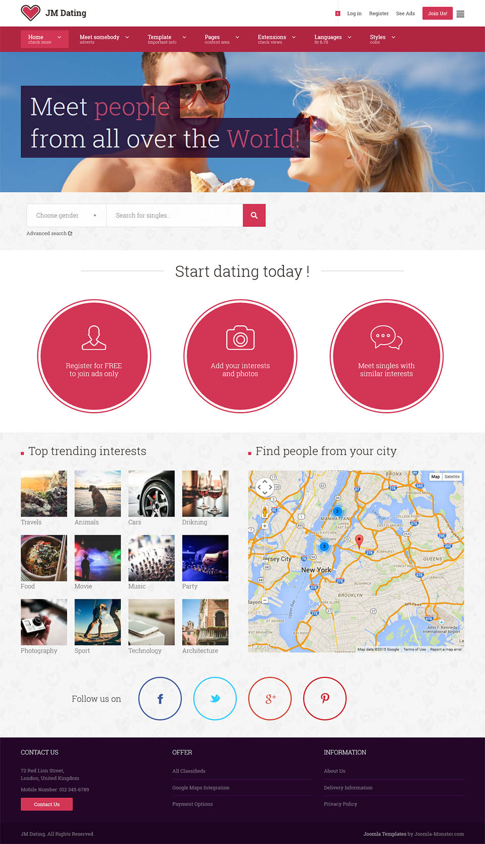Dating site template joomla download