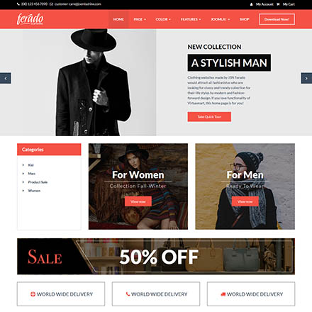 JSN Ferado-2 VirtueMart Template YOUR WEB ONLINE STORE