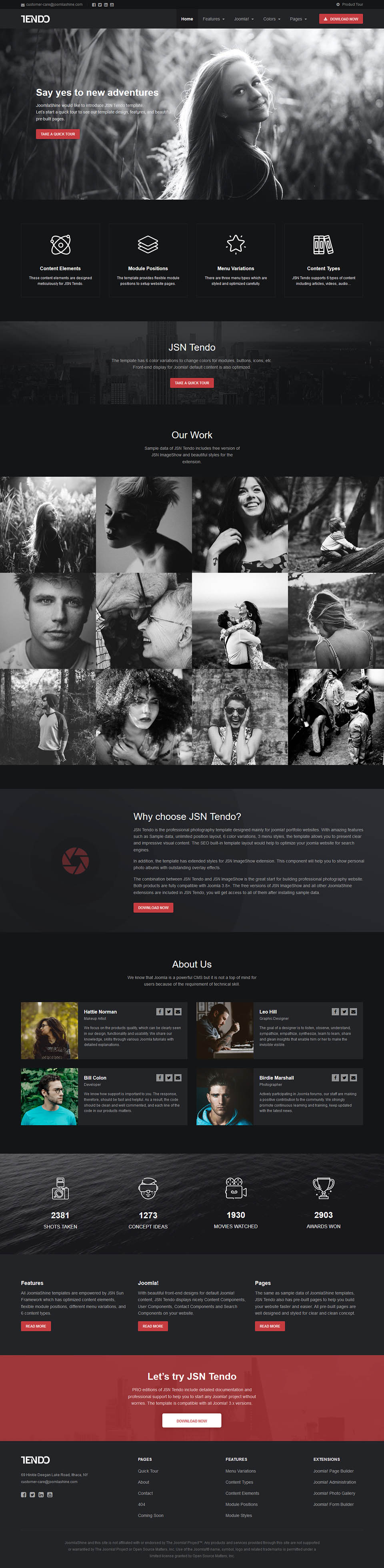 JoomlaShine JSN Tendo 2 v2 1 0 - portfolio template for Joomla