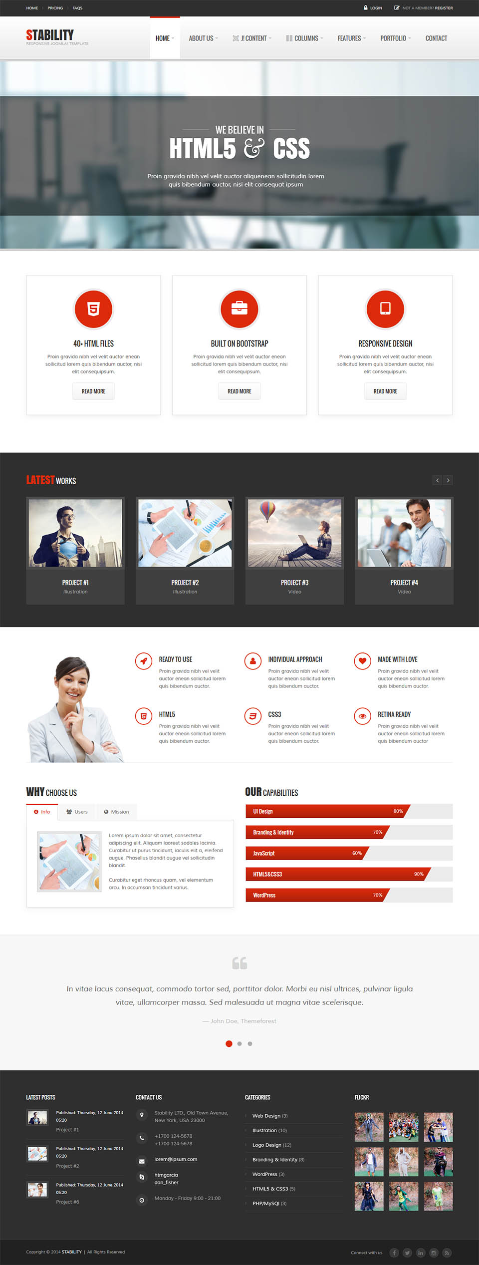 Themeforest Stability V120 Business Template For Joomla