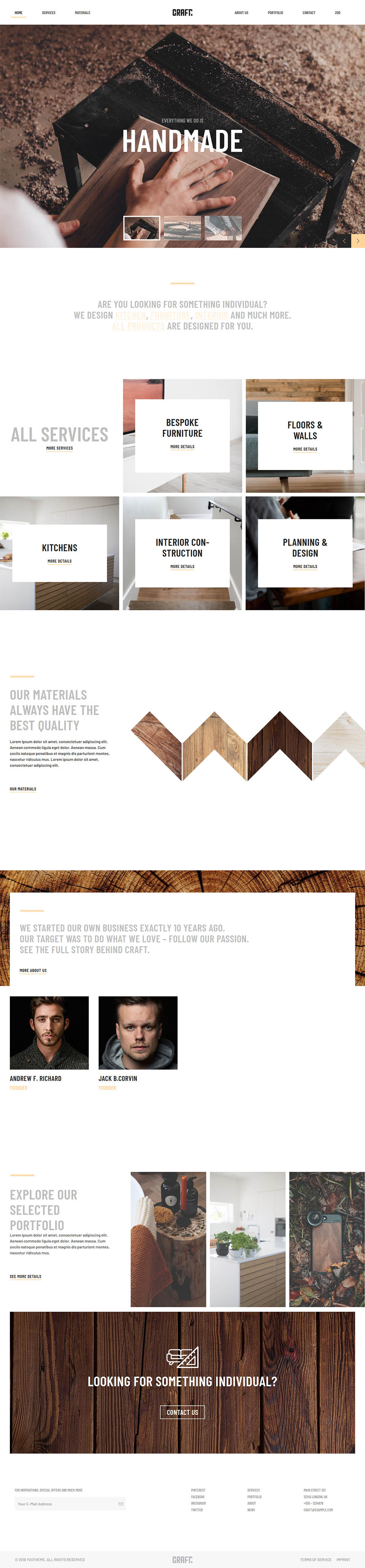 YOOtheme Craft v1 21 6 - company template for the manufacture of