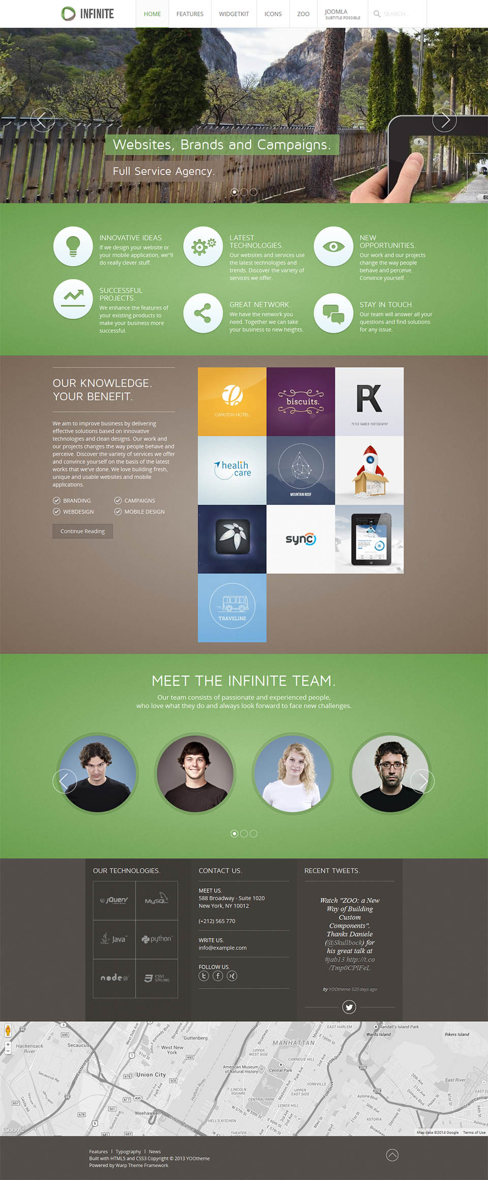 YOOtheme Infinite v1 0 1 - the portfolio template for Joomla