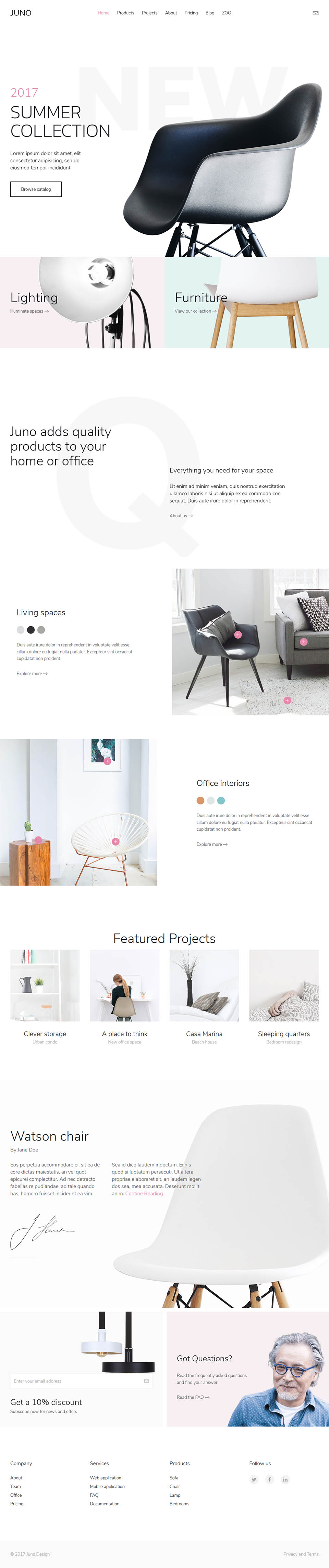 YOOtheme Juno v1.13.2 - the interior design studio template for Joomla
