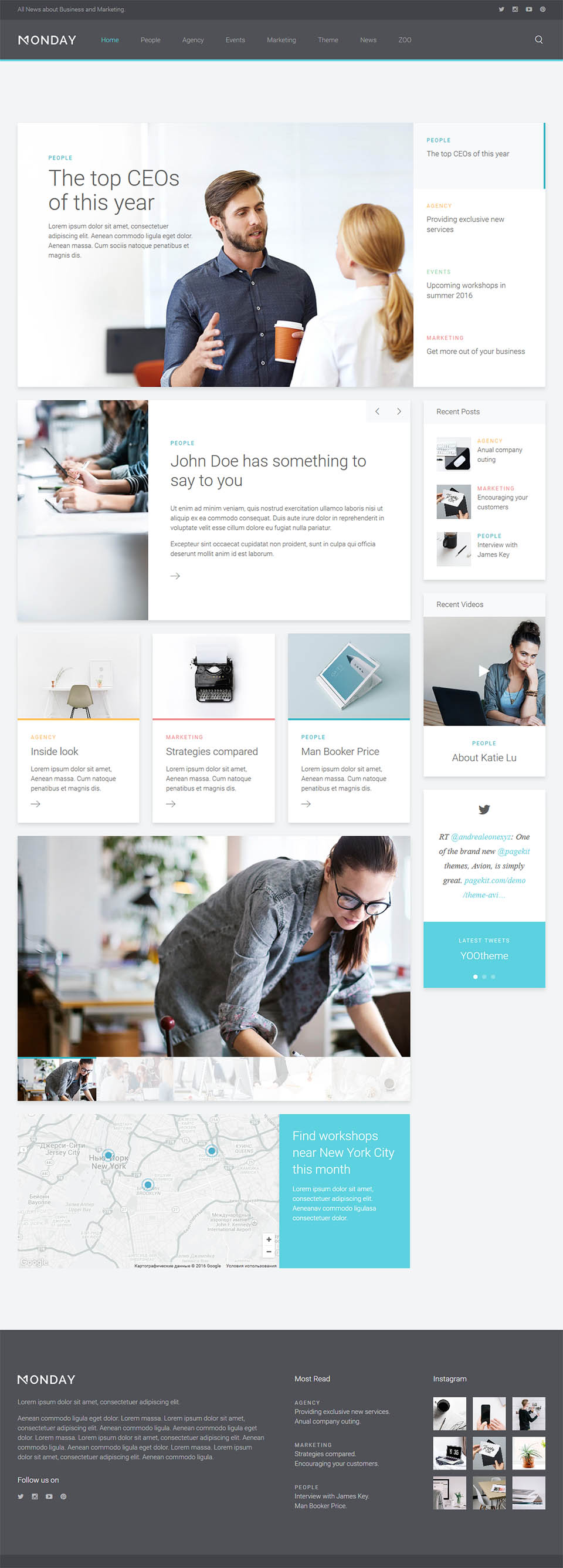 YOOtheme Monday v1.0.9 - business template for Joomla 3.7