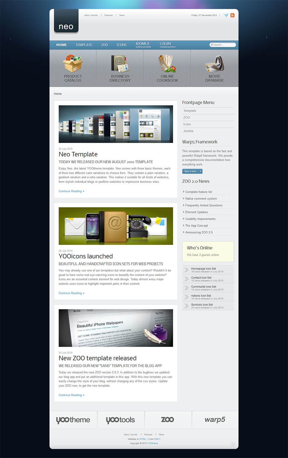 YOOtheme Neo v5.5.13 - blog template for Joomla