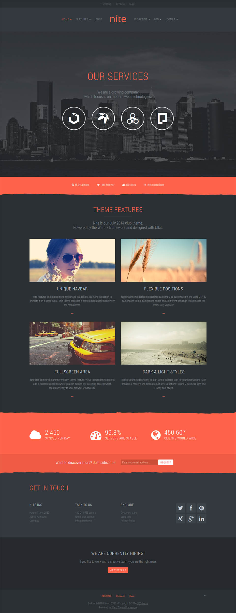 YOOtheme Nite v1.0.9 - corporate template for Joomla