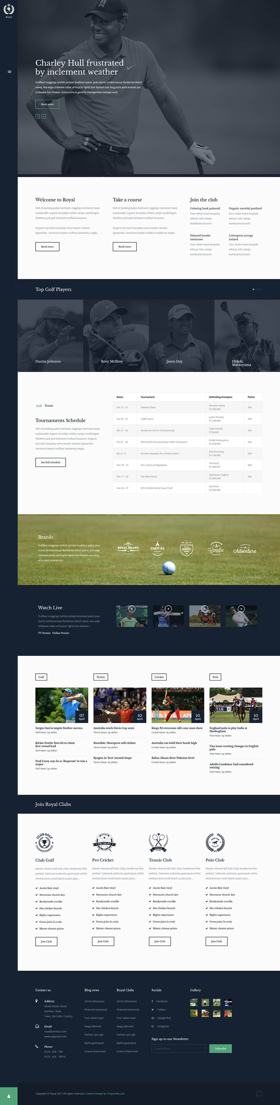 Youjoomla yj business report v1.0 template for joomla 2.5