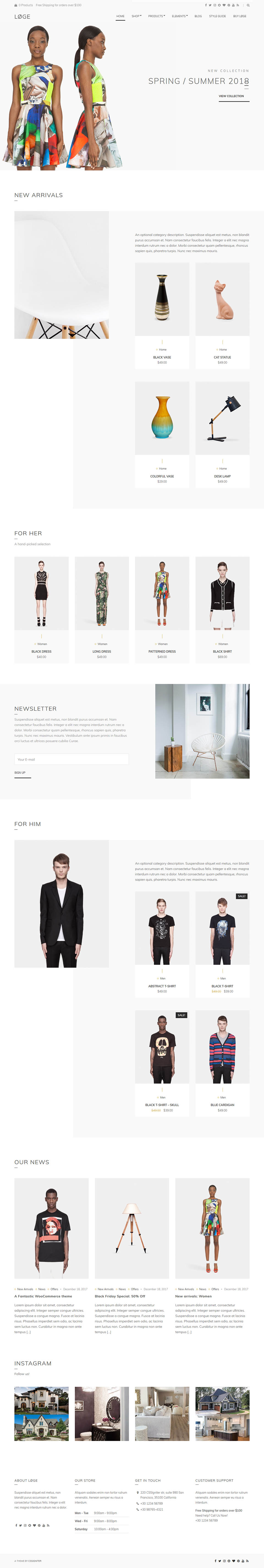 Cssigniter Loge V1 8 1 Template Stylish Online Store For Wordpress