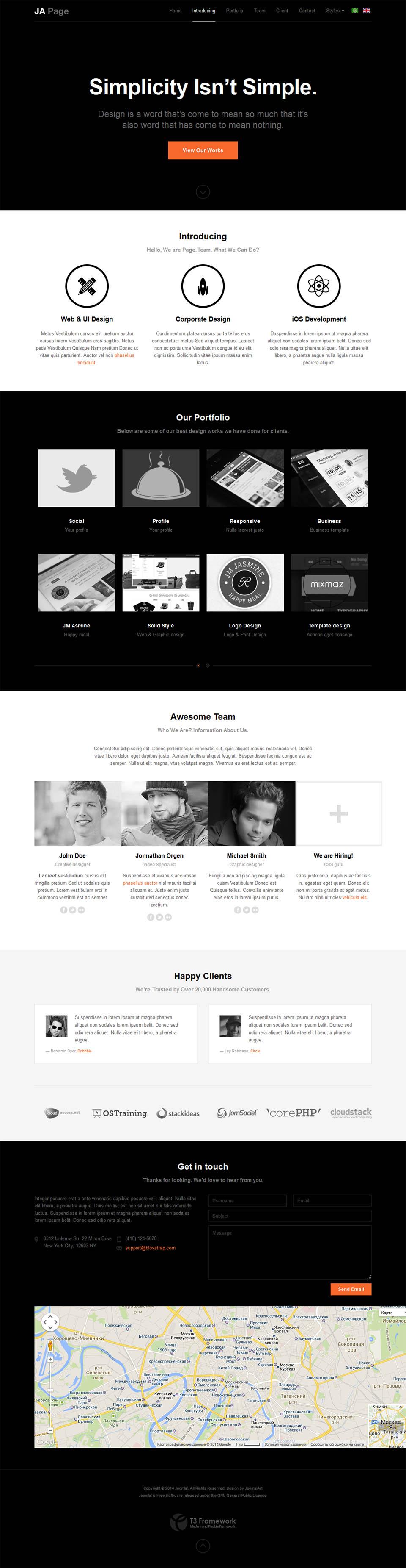 Joomlart Onepage V1 1 8 Landing Page Template For Joomla