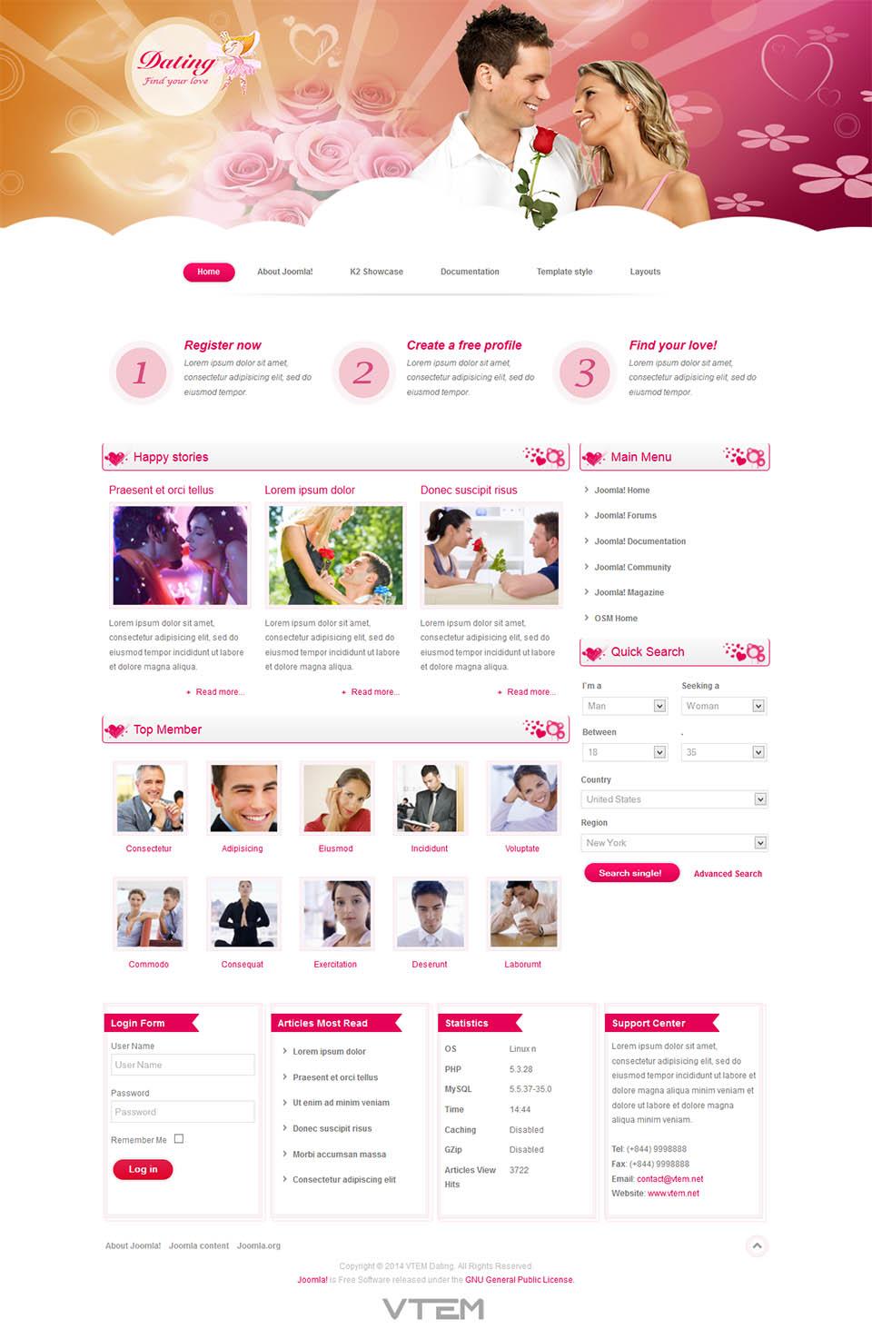 Free joomla dating template http www doubleyourdating com ebook